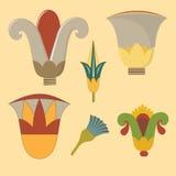 Egyptisch bloemornament Stock Afbeelding