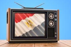 Egyptisch 3D Televisieconcept, vector illustratie