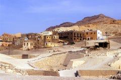Egyptisch dorp Royalty-vrije Stock Afbeeldingen