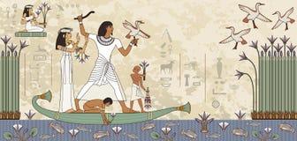 Egyptisch hiëroglief en symbool Stock Foto's