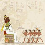 Egyptisch hiëroglief en symbool Stock Afbeeldingen
