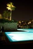 Egyptisch Hotel Poolside Stock Fotografie