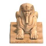 Egyptisch menselijk standbeeld vector illustratie