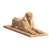 Egyptisch menselijk standbeeld stock fotografie