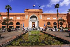 Egyptisch museum in Kaïro royalty-vrije stock foto's