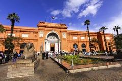 Egyptisch museum in Kaïro stock afbeeldingen