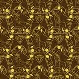 Egyptisch naadloos patroon Stock Afbeelding