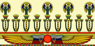 Egyptisch ornament Stock Afbeelding