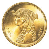 50 Egyptisch piastersmuntstuk royalty-vrije stock fotografie
