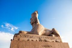 Egyptisch sphynxbeeldhouwwerk van heilige petersbur stock foto's