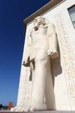Egyptisch standbeeld bij WAFI Wandelgalerij, Doubai royalty-vrije stock foto