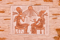 Egyptisch zandsteen royalty-vrije stock foto