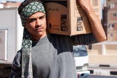Egyptische Arbeider in Kaïro, Egypte Royalty-vrije Stock Afbeeldingen