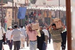 Egyptische Arbeiders in Kaïro, Egypte Stock Afbeeldingen