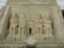 Egyptische architectuur Royalty-vrije Stock Foto's