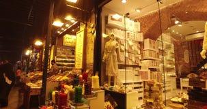 Egyptische Bazaar stock video