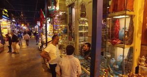 Egyptische Bazaar stock videobeelden