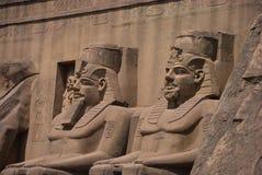 Egyptische beeldhouwwerken royalty-vrije stock fotografie