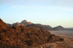 Egyptische bergen Stock Afbeeldingen
