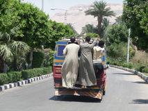 Egyptische bus Royalty-vrije Stock Afbeeldingen