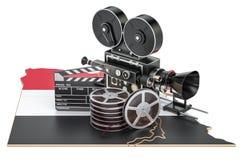 Egyptische cinematografie, het concept van de filmindustrie het 3d teruggeven Stock Fotografie