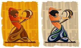Egyptische danser Royalty-vrije Stock Afbeeldingen