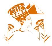 Egyptische decoratie royalty-vrije illustratie