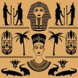 Egyptische decoratieve patronen Royalty-vrije Stock Foto's