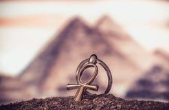 Egyptische DwarsAnkh Stock Foto