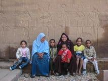 Egyptische familie Stock Foto