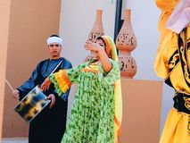Egyptische folklore stock fotografie