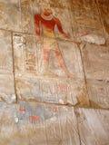 Egyptische fresko. Textuur en achtergrond. Stock Foto
