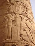 Egyptische fresko. Textuur en achtergrond. Royalty-vrije Stock Foto