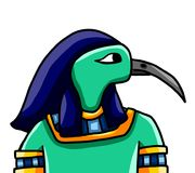 Egyptische God Thoth royalty-vrije illustratie