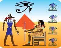 Egyptische hiërogliefen - 10 vector illustratie