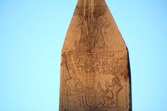 Egyptische hiërogliefen stock afbeelding