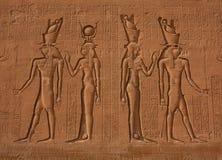 Egyptische Hiërogliefen Royalty-vrije Stock Foto