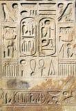 Egyptische hiërogliefen stock fotografie