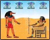 Egyptische hiërogliefen - 14 Stock Foto