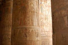 Egyptische Hieroglyphcs Stock Afbeeldingen