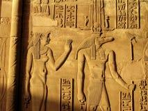 Egyptische hiërogliefen Stock Foto