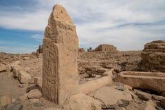 Egyptische hyroglyphs op een archeologische plaats in de Soedan stock afbeeldingen
