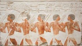 Egyptische illustratiegravure Stock Foto