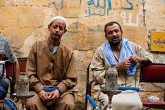 Egyptische Kerels Shisha Stock Foto's