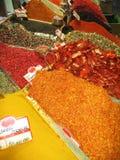 Egyptische kruidbazaar, Istanboel, Turkije Stock Fotografie