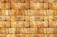 Egyptische muur Royalty-vrije Stock Foto's