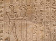 Egyptische muur royalty-vrije stock fotografie