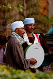 Egyptische muziekband in Kaïro. Egypte Stock Afbeeldingen
