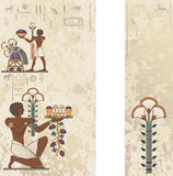 Egyptische oude symboolachtergrond Stock Foto