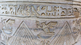 Egyptische oude tempelgravures  Stock Foto
